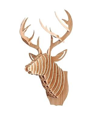 Eco Décor Laser-Cut Animal Trophy Deer Head, Maple