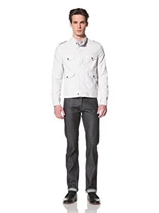 Onassis Men's Orville Four Pocket Jacket with Epaulets (Glacier Grey)