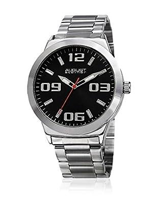 August Steiner Uhr mit schweizer Quarzuhrwerk  silberfarben 45 mm