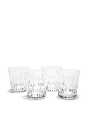 Rogaska Set of 4 Garcia Double Old-Fashioned Glasses (Clear)