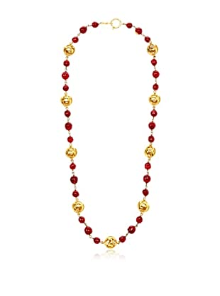 CHANEL Rare Red Gripoix Necklace
