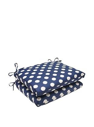 Waverly Sun-n-Shade Set of 2 Solar Spot Pool Seat Cushions (Navy/Cream)