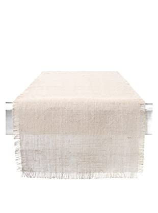 Couleur Nature Ivory Burlap Runner
