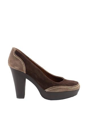 Liberitae Zapatos Plataforma (Marrón)