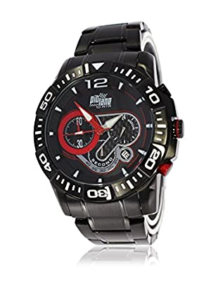 Pit Lane Uhr mit Miyota Uhrwerk Pl-1013-1 schwarz 45 mm