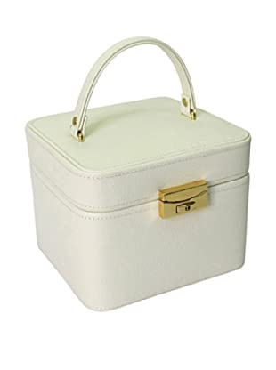 Morelle & Co. Emma Small Leather Jewelry Box, Cream