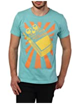 Yepme Men's Blue Cotton T-Shirt-YPMTEES0442_M