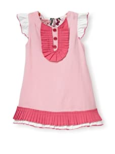 Beetlejuice Girl's 2T-6X Butterfly Kisses Pleated A-Line Dress (Baby Pink)