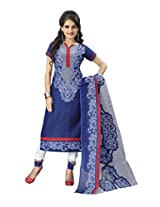 Unstitched cotton Salwar/Churidar/Patiala Dress Material with Dupatta