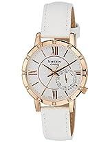 Casio Sheen Analog White Dial Women's Watch - SHE-3046GLP-7AUDR (SX164)