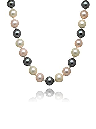 Perldor 60650003 - Collar de mujer de plata de ley con perla natural Rosa/Gris 50 cm