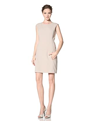 Calvin Klein Women's Cap Sleeve Solid Dress (Khaki)