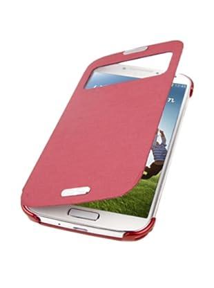 Unotec Custodia con Ventosa Flip per Galaxy S4 Rosso