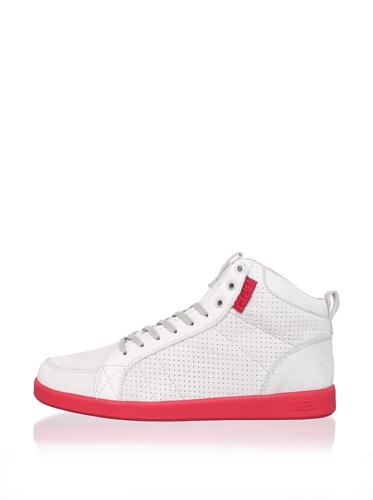 Clae Men's Russell Sneaker (Gravel Nubuck/Ruby)