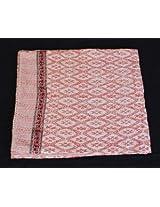 Worldoftextile Kantha Bedcover Vintage Reversible Bedspread Decorative Vintage Cotton Hand block Printed Soft 100% cotton