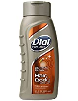 Dial for Men Hair & Body Wash, Ultimate Clean, 21 Ounce Bottles (Pack of 3)