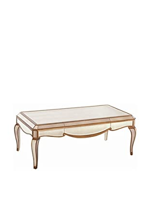 Bassett Mirror Collette Rectangular Cocktail Table, Antique Mirror