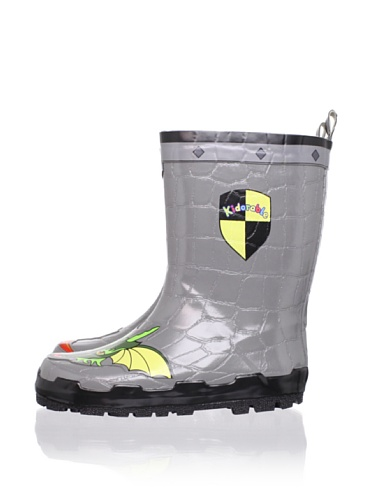 Kidorable Dragon Knight Rain Boot (Toddler/Little Kid) (Grey)