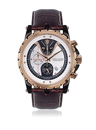Chrono Diamond Uhr mit schweizer Quarzuhrwerk Man 10700 Furia braun 45 mm