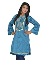 Sai Ruchi Women's Blues Kurti - XX-Large/44