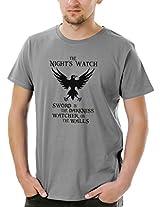 Socratees Men's Grey Cotton Night's Watch Game Of Thrones T-shirt