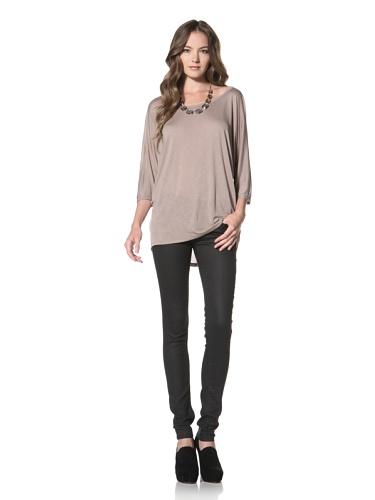 Nation LTD by Jen Menchaca Women's Coral Gables 3/4 Sleeve T-Shirt (Mushroom)