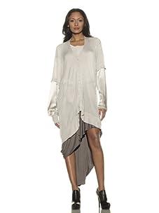 Preen Line Women's Sports Silk Sleeve Cardigan (Oyster)