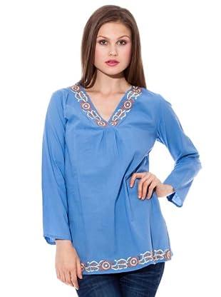 HHG Camisa Flor (Azul)