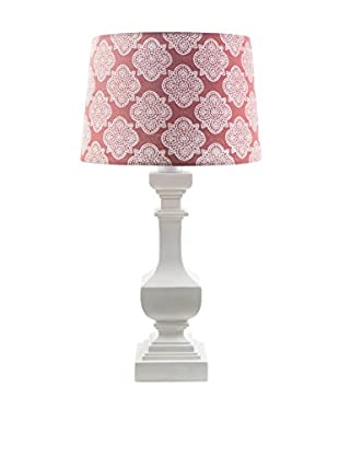 Surya Carolina Outdoor Table Lamp, Coral/White