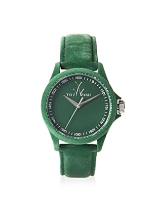 ToyWatch Women's PE04GR Sartorial Only Time Green Velvet Watch