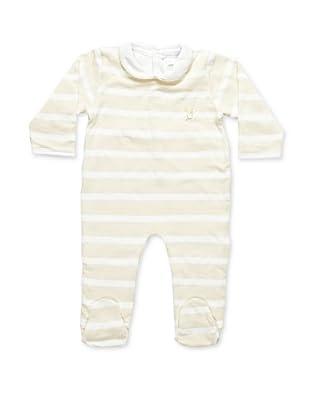 Pasito a Pasito Pijama Rayas Beige 6 meses