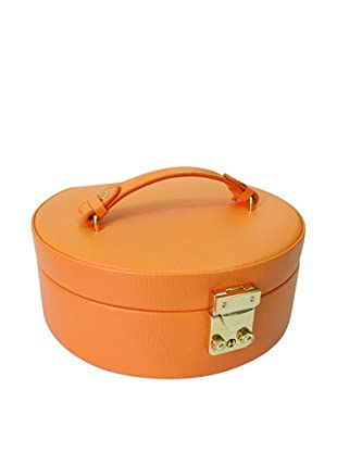 Morelle & Co. Linda Half Moon Leather Jewelry Box, Nectarine