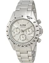 a_line Watches, Women's Amore Chronograph Silver Dial Silver Tone Aluminum, Model 20050-SL