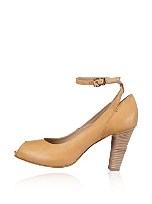 Manas Zapatos Peep Toe (Miel)