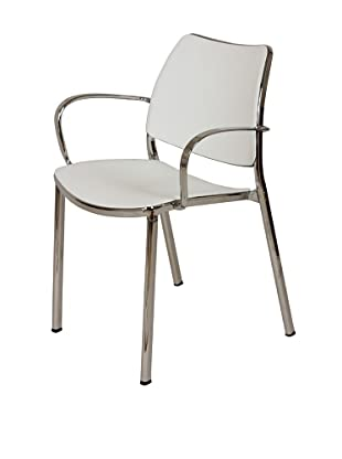Control Brand Asta Arm Chair, White