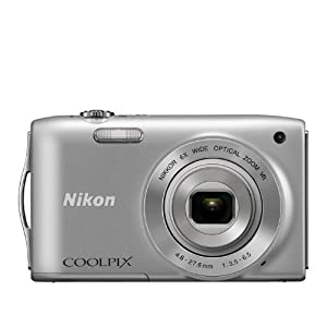 Nikon Coolpix L27 16.1MP Point and Shoot Digital Camera (Silver) with 5x Optical Zoom, 4GB Card and Camera Pouch