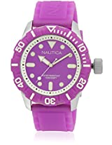 Nta09606G Purple/Purple Analog Watch