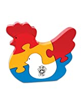 Skillofun Take Apart Puzzle Hen Chick, Multi Color