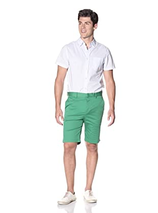 Slate & Stone Men's Buio Flat-Front Short (Green)