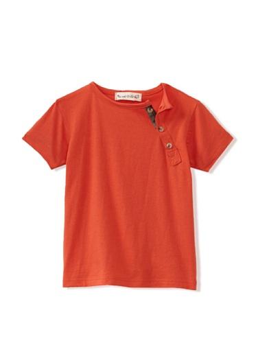 Peas and Queues Boy's Miles Henley Tee (Orange)