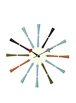 Mid Century Modern Multicolor Spindle Clock