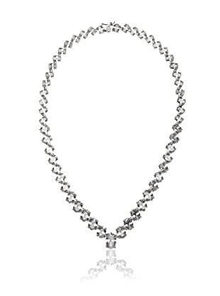 Cubic Zirconia by Kenneth Jay Lane Clear Oval Eternity Necklace