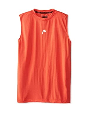 HEAD Men's Sleeveless Hypertek T-Shirt (Flame Heather)