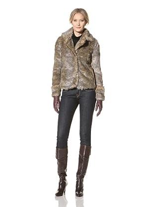 CoffeeShop Women's Faux Fur Jacket (Brown)