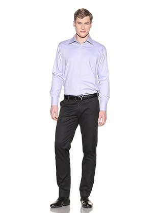 Valentino Men's Dress Shirt (Royal/Light Blue Small Square)