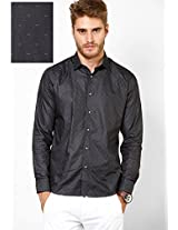 Black Slim Fit Casual Shirt