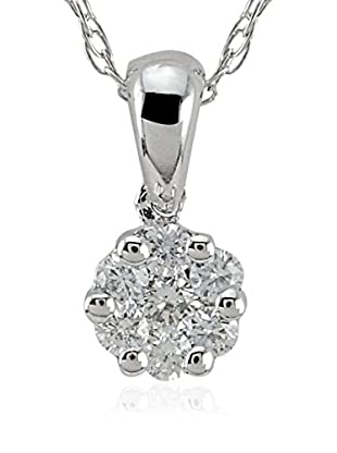 Divas Diamond Conjunto de cadena y colgante Diamond Solitaire Look