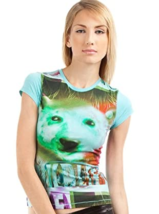 Custo T-Shirt Small Wildlife (Türkis)