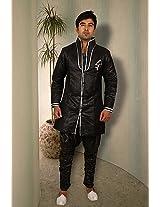Bodyline Black Men Kurta Pyjama RK4030