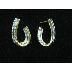 One gram gold diamond studded stunning earrings